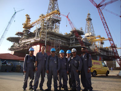 Commissioning Staff at Oil Rig Site