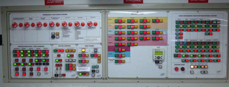 Cargo Control Room mimic panel for FSO Africa